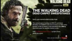 AMC's The Walking Dead's Dead Carpet Sweepstakes