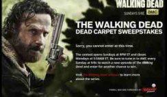 AMC's The Walking Dead's Dead Carpet Sweepstakes