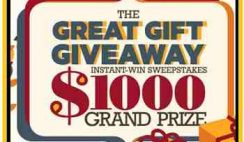 Find&Save's Great Gift Giveaway Holiday Instant Win and Sweepstakes