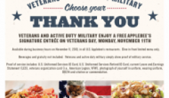 Free Meal for Veterans from IHOP