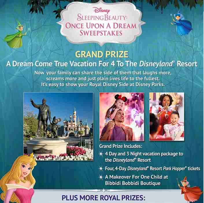 Disney Sleeping Beauty's Once Upon A Dream Sweepstakes