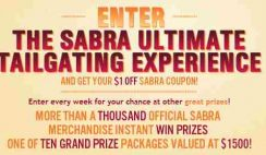 Sabra's NFL Ultimate Tailgating Sweepstakes