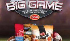 Tyson Anytizers' Big Game Sweepstakes for 2015