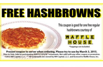 Free Hash Browns from Waffle House