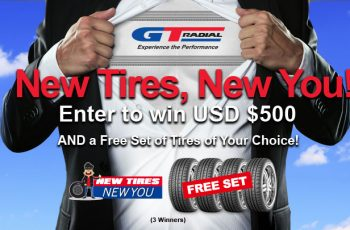 GT Radial's New Tires, New You Sweepstakes