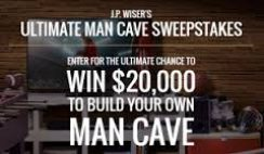 J.P. Wisers Whisky's Ultimate Man Cave Sweepstakes