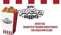 People KFC's Nuggets of Wisdom Sweepstakes