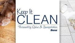 Bona's Keep It Clean Personality Quiz and Sweepstakes