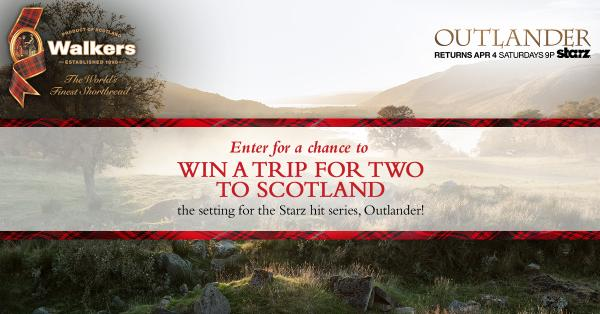 Walkers Short Bread's Outlander Sweepstakes