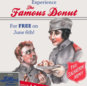 Free Famous Donut from LaMar's Donuts