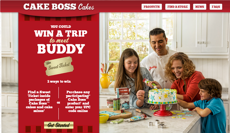 Dawn Food Products' Cake Boss Sweet Ticket Sweepstakes