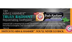Free Arm & Hammer Truly Radiant Rejuvenating Toothpaste Sample