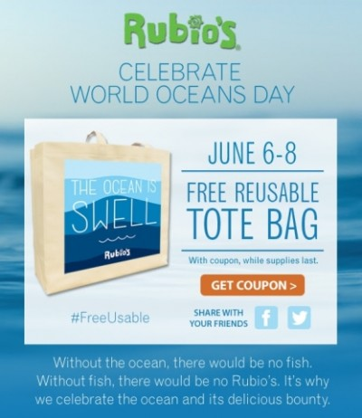 Free Tote Bag from Rubio
