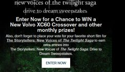 Volvo's New Voices of the Twilight Saga Drive to Dream Sweepstakes