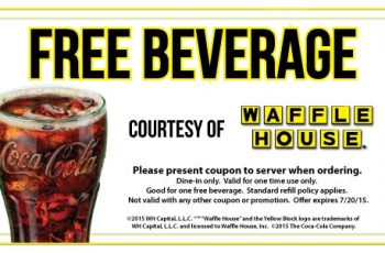 Free Beverage from Waffle House