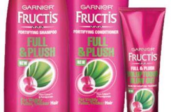 Free Garnier Fructis Full & Plush Hair Care Sample