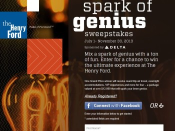 The Henry Ford's Spark of Genius Sweepstakes
