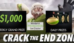 Wonderful Pistachios' Crack the End Zone Sweepstakes