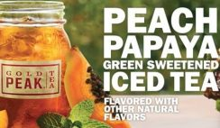 Free Peach Papaya Green Sweetened Iced Tea from Carl's Jr.