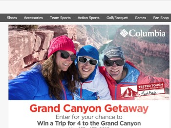 Sports Authority's Grand Canyon Getaway Sweepstakes