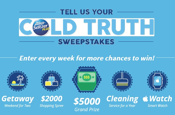 Alka-Selzer Plus' Tell Us Your Cold Truth Sweepstakes
