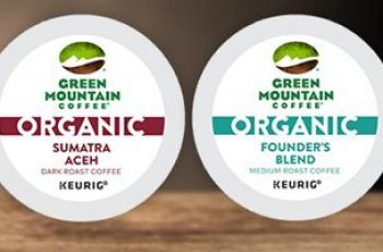 Free Green Mountain Organics K-Cup 4 Pod Sample Pack