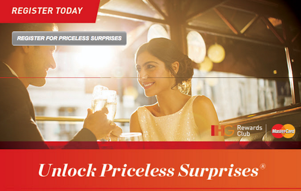 IHG and MasterCard's Priceless Surprises Sweepstakes