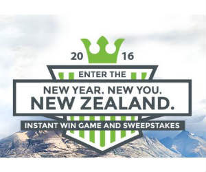 Rodale's New Year, New You, New Zealand Sweepstakes