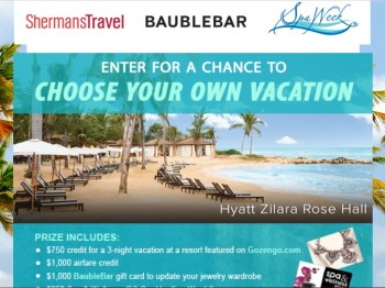 Sherman's Travel's Choose Your Own Vacation Sweepstakes