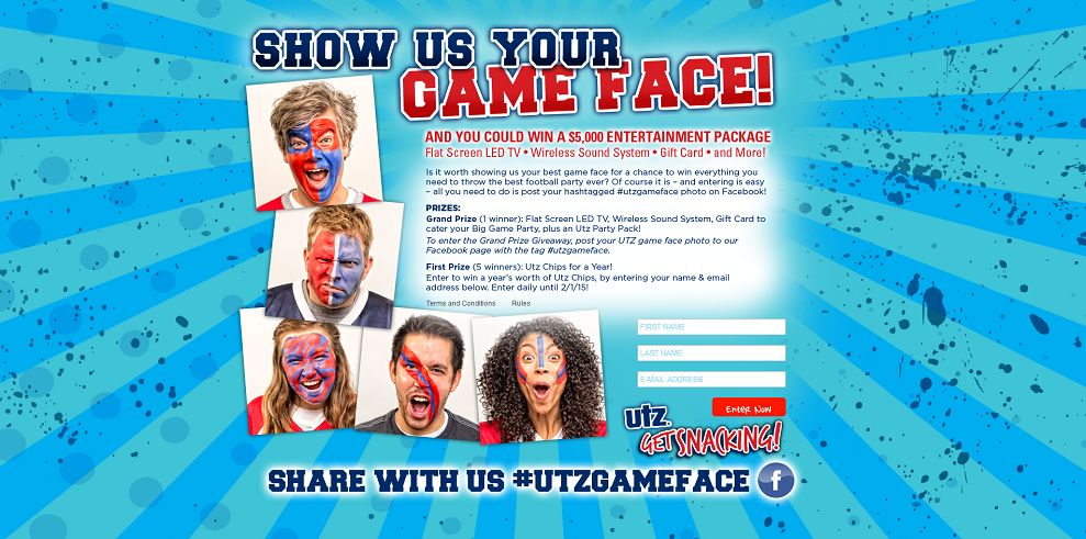 Utz's Game Face 2016 Sweepstakes