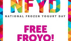 Free 6oz Frozen Yogurt from Menchie's