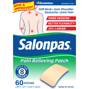 Free Salonpas Pain Relieving Patch 2ct Sample