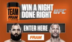 FRAM's 2016 Night Done Right Sweepstakes