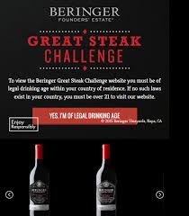 Beringer's 2016 Great Steak Challenge Sweepstakes