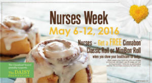 Free Cinnabon for Nurses