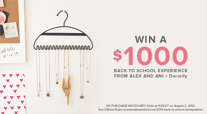 Alex and Ani's Back to School Sweepstakes