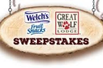 Welch's Fruit Snacks' Great Wolf Lodge Sweepstakes
