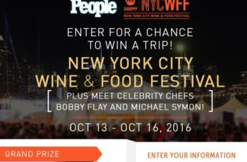 Food Network's New York City Wine & Food Festival Sweepstakes