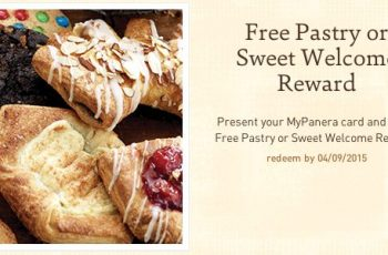 Free Pastry or Sweet Welcome Reward from Panera Bread