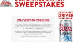 Coors Light's Online Designated Driver Sweepstakes
