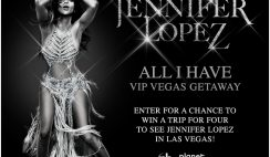 Live Nation's Jennifer Lopez All I Have VIP Getaway Sweepstakes