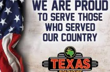 Free Lunch from Texas Roadhouse on Veteran's Day