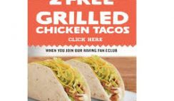 Free Grilled Chicken Taco from Del Taco