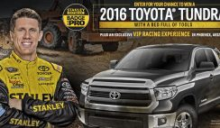 Stanley Tools' 2017 Toyota Tundra Giveaway