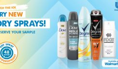 Free Dry Spray 48-Hour Antiperspirant of Your Choice