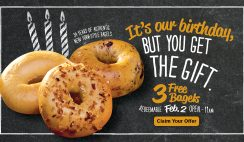 Free Three Bagels from Bruegger's
