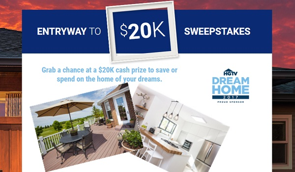 Realtor's Entryway to $20K Sweepstakes