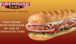 Free Drink from Firehouse Subs