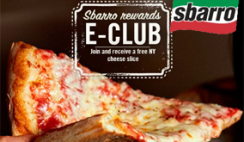 Free Sbarro NY Cheese Pizza Slice