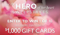 Win a Helzberg Diamonds $1,000 Gift Card